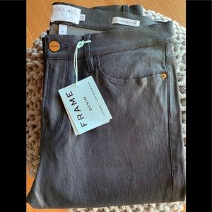 FRAME Denim Leather Skinny de Jeanne Pants